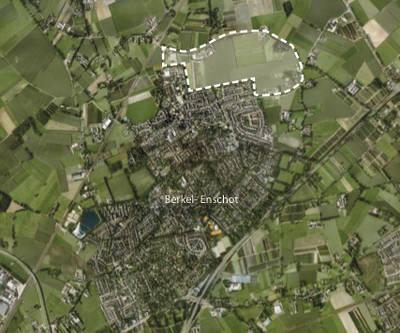 de akker luchtfoto