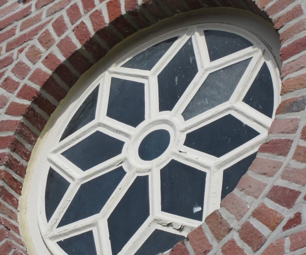 wollendekenfabriek rozet detail